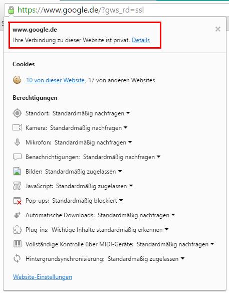 Wie man mit Google Chrome ein SSL Zertifikat herunterlädt - So ...